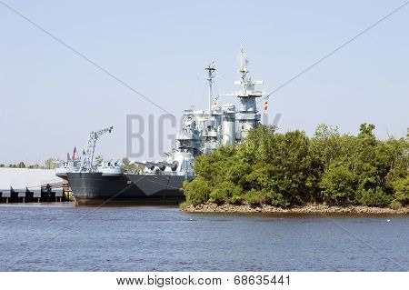 Wilmington,NC USA July 20,2014 USS North Carolina Battleship