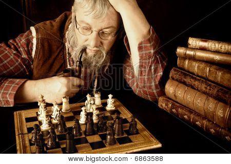 Vintage Chess Scene