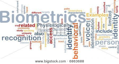 Biometrics Word Cloud