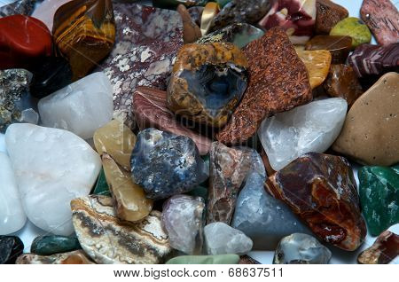 Polished Tumbled Stones Detail