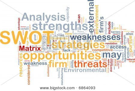 Swot Analysis Background Concept