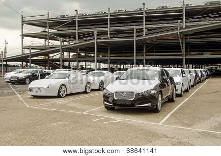 Jaguar Cars ready for Export