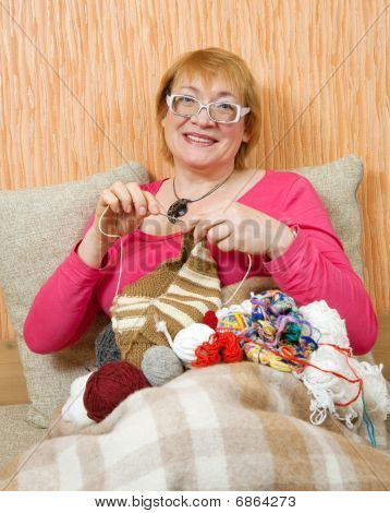 stricken senior woman