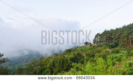Viewpoint Doi Ang Khang Mountains In Chiang Mai Province Of Thailand