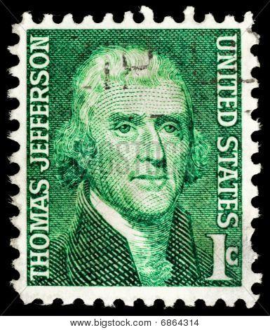 Vintage Thomas Jefferson Usa 1C Postage Stamp