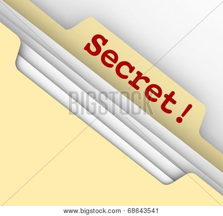 Secret word typed manila envelope classified files confidential information sensitive archive