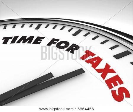 Tiempo de impuestos - reloj