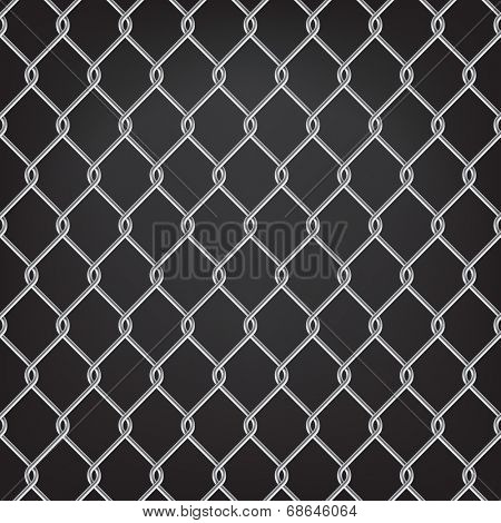 metal chain link fence on black