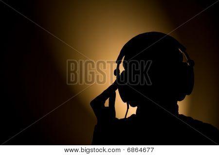 Silhueta de fone de ouvido