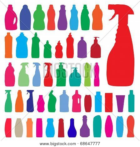 Household Bottles Silhouettes