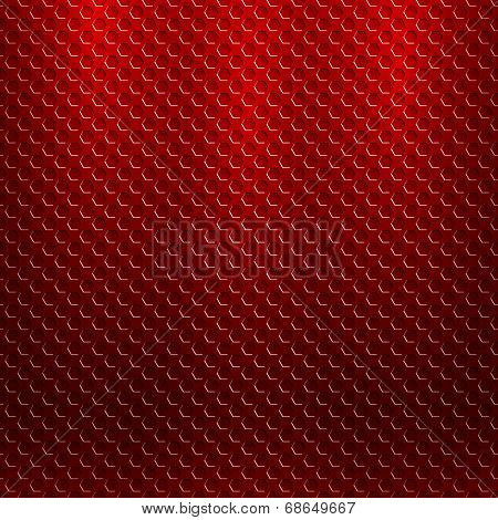 abstract seamless metallic pattern with hexagon grille