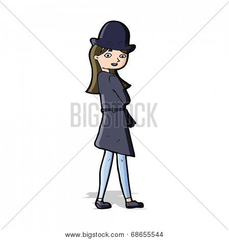 cartoon female spy