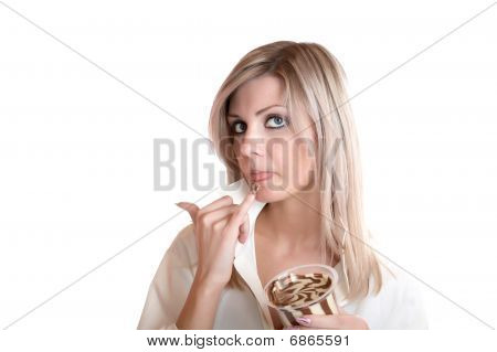 The Girl Eats Chocolate Paste