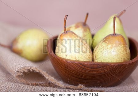 Pears In The Bowl