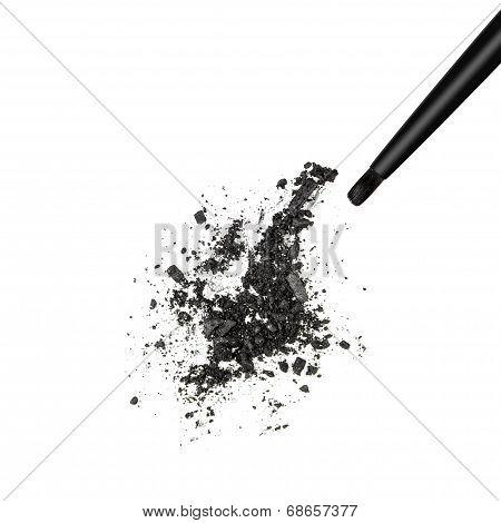 Black Shimmery Eyeshadow