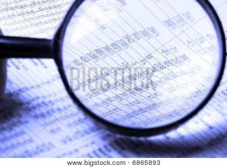 magnifying stocks