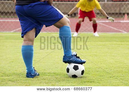 Soccer Preparing For A Penalty Shot