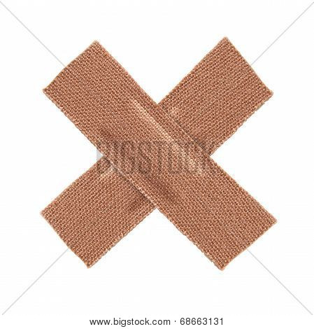 First Aid Plaster Isolated On White Background