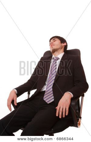 Businessman Which He Fell Asleep