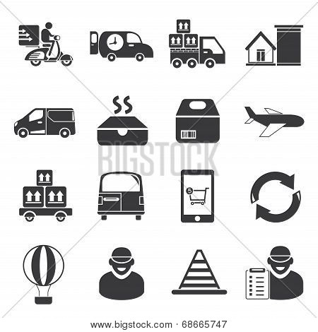 delivery service, shipping service icons
