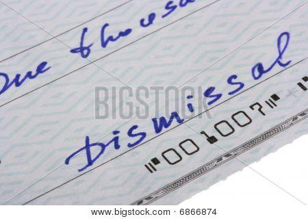 Check Dismissal