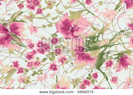 Watercolor Of Floral