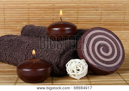 Set for SPA-procedure on a bamboo background