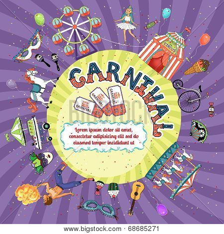 Vector carnival invitation design