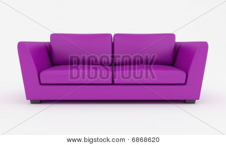 Purple Modern Couch
