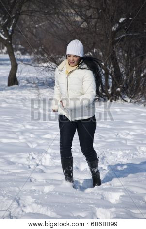 Active Woman In Winter