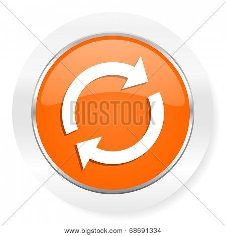 reload orange computer icon