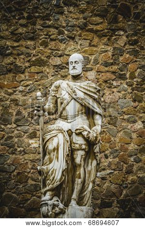 Carlos V sculpture, Tourism, Toledo, most famous city in spain