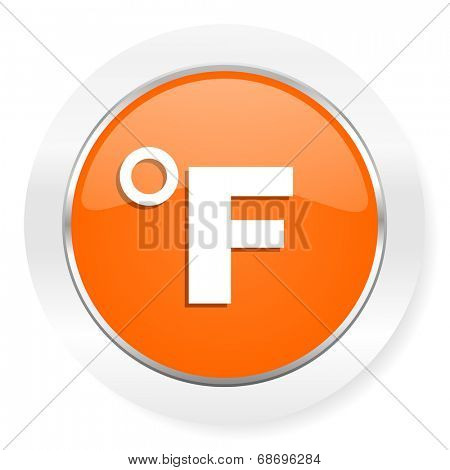 fahrenheit orange computer icon
