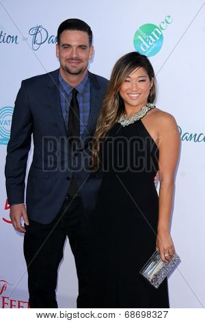 LOS ANGELES - JUL 19:  Mark Salling, Jenna Ushkowitz at the 4th Annual Celebration of Dance Gala at Dorothy Chandler Pavilion on July 19, 2014 in Los Angeles, CA