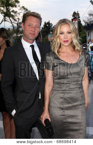 LOS ANGELES - JUL 19:  Martyn LeNoble, Christina Applegate at the 4th Annual Celebration of Dance Gala at Dorothy Chandler Pavilion on July 19, 2014 in Los Angeles, CA