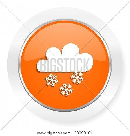 snowing orange computer icon
