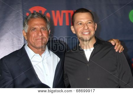 LOS ANGELES - JUL 17:  Les Moonves, Jon Cryer at the CBS TCA July 2014 Party at the Pacific Design Center on July 17, 2014 in West Hollywood, CA