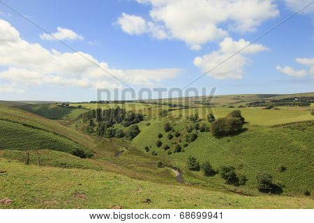 Rugged Exmoor farmland