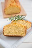 picture of pound cake  - Home made Lemon Pound Cake with Rosemary
