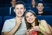 foto of watching movie  - Exciting movie - JPG