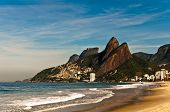 picture of ipanema  - Sunny day in empty Ipanema beach - JPG