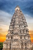 stock photo of karnataka  - Virupaksha temple tower in Hampi Karnataka India - JPG