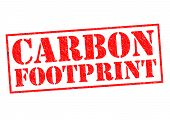 image of carbon-footprint  - CARBON FOOTPRINT red Rubber Stamp over a white background - JPG