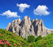 stock photo of italian alps  - Dolomite peaks - JPG