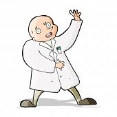 image of mad scientist  - cartoon mad scientist - JPG