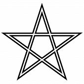 pic of pentagram  - Pentagram icon on white background - JPG