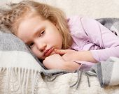 stock photo of cold-shoulder  - Illness child - JPG