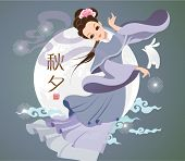 pic of moon-flower  - Vector Mid Autumn Festival Illustration of Chang - JPG