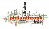 stock photo of empathy  - Philanthropy issues and concepts word cloud illustration - JPG
