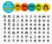 foto of high-quality  - 77 high quality people icons - JPG